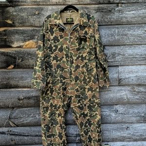 Vintage Camouflage Boiler Suit Coveralls Kmart